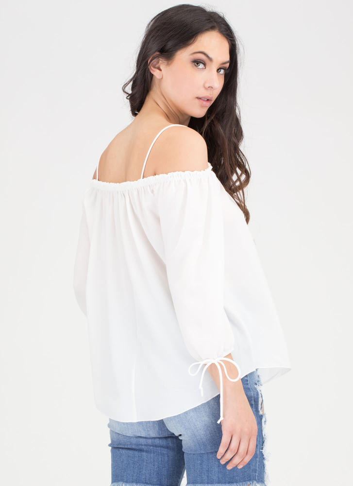 Give It To Me Baby Off-Shoulder Top IVORY