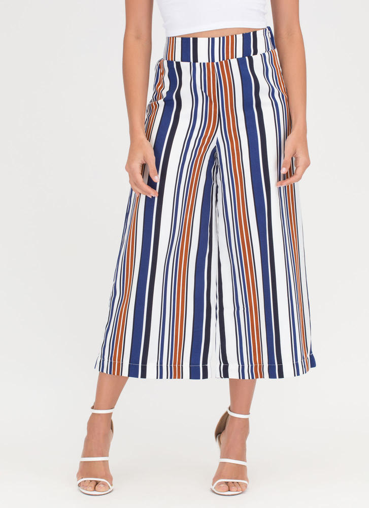 Stripe For More Cropped Palazzo Pants MULTI