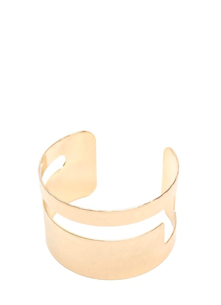 Let's Get Hammered Cut-Out Cuff GOLD