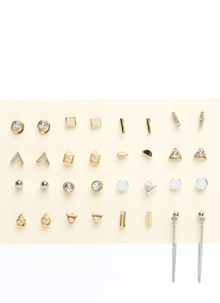 Sweet Sixteen Chained Earring Set