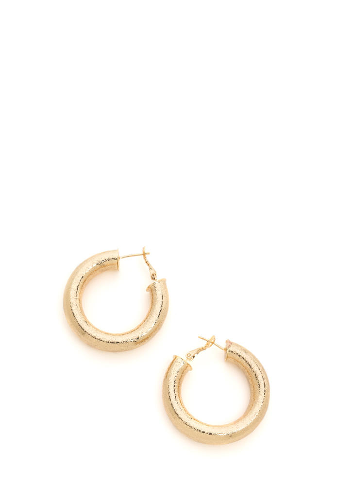 Chunky Town Thick Hoop Earrings