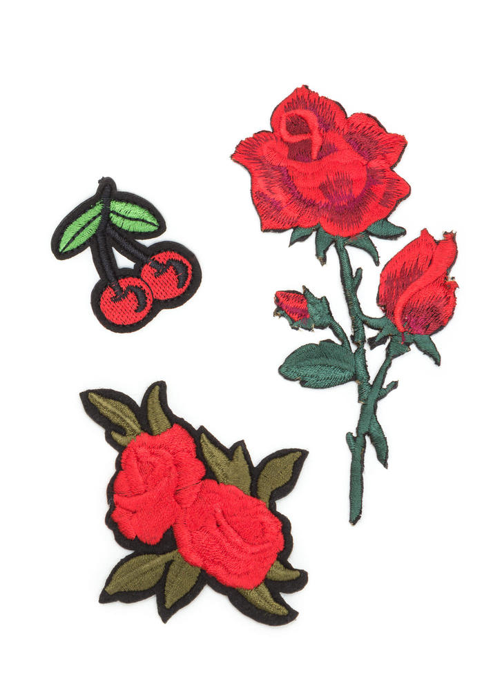 Rosy Outlook Rose And Cherry Patch Set