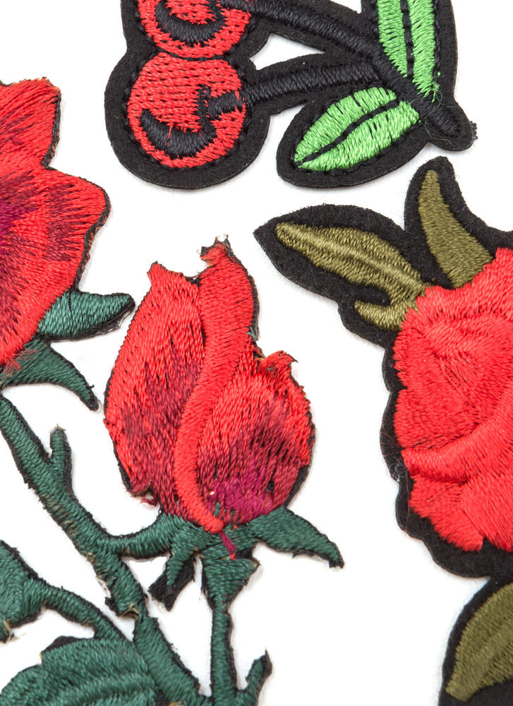 Rosy Outlook Rose And Cherry Patch Set MULTI