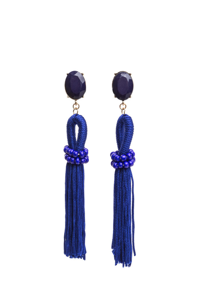 Fashion Gem-pire Tassel Earrings