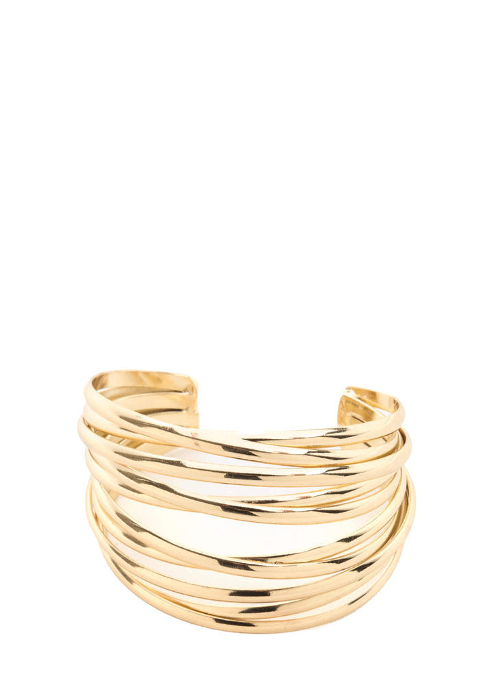 All Wrapped Up Multi-Banded Cuff GOLD