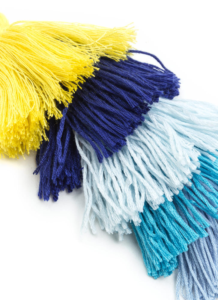 New Threads Fringe Tassel Keychain BLUEGOLD