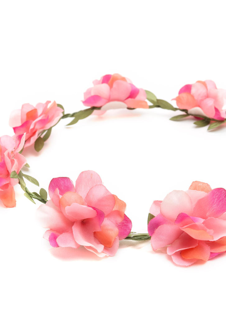 I'm A Vine Star Faux Flower Crown PINK