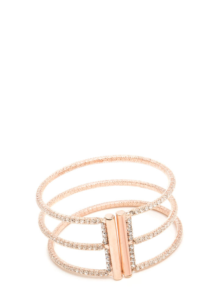 Three For All Cut-Out Cuff Bracelet ROSEGOLD