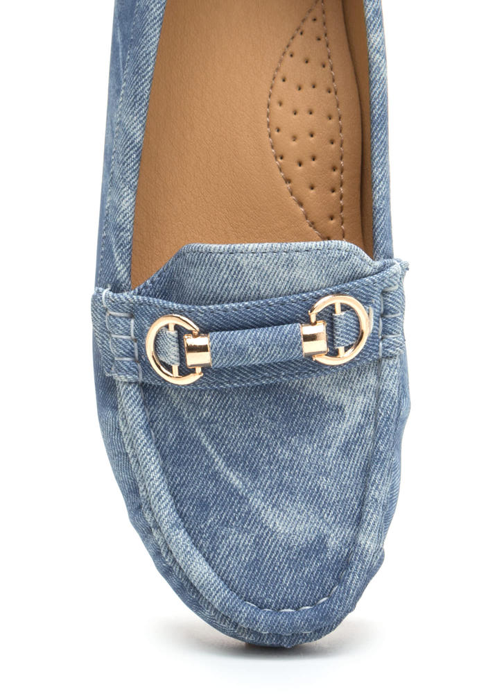 Yes Smoking Washed Denim Loafers DENIM