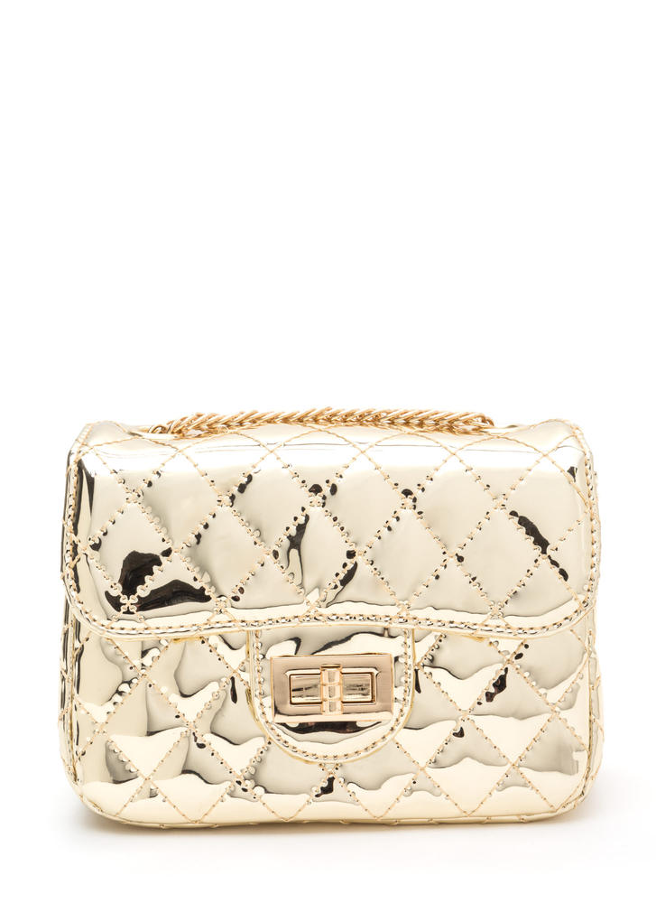 Elegant Choice Quilted Metallic Bag