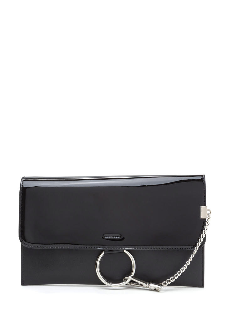 Ring It Up Chained Rectangle Clutch