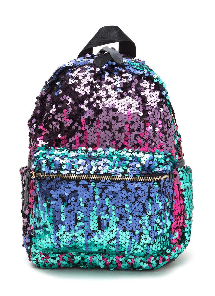 Have A Shine Time Sequined Backpack