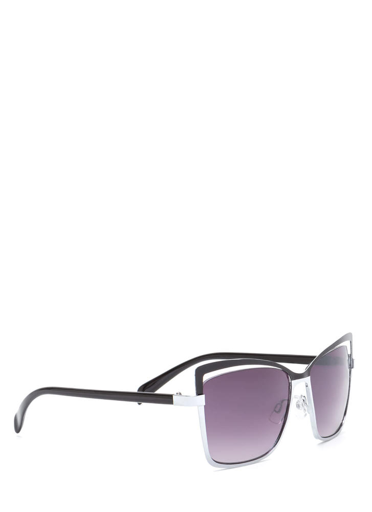 Poolside Beauty Cut-Out Sunglasses BLACKSILVER