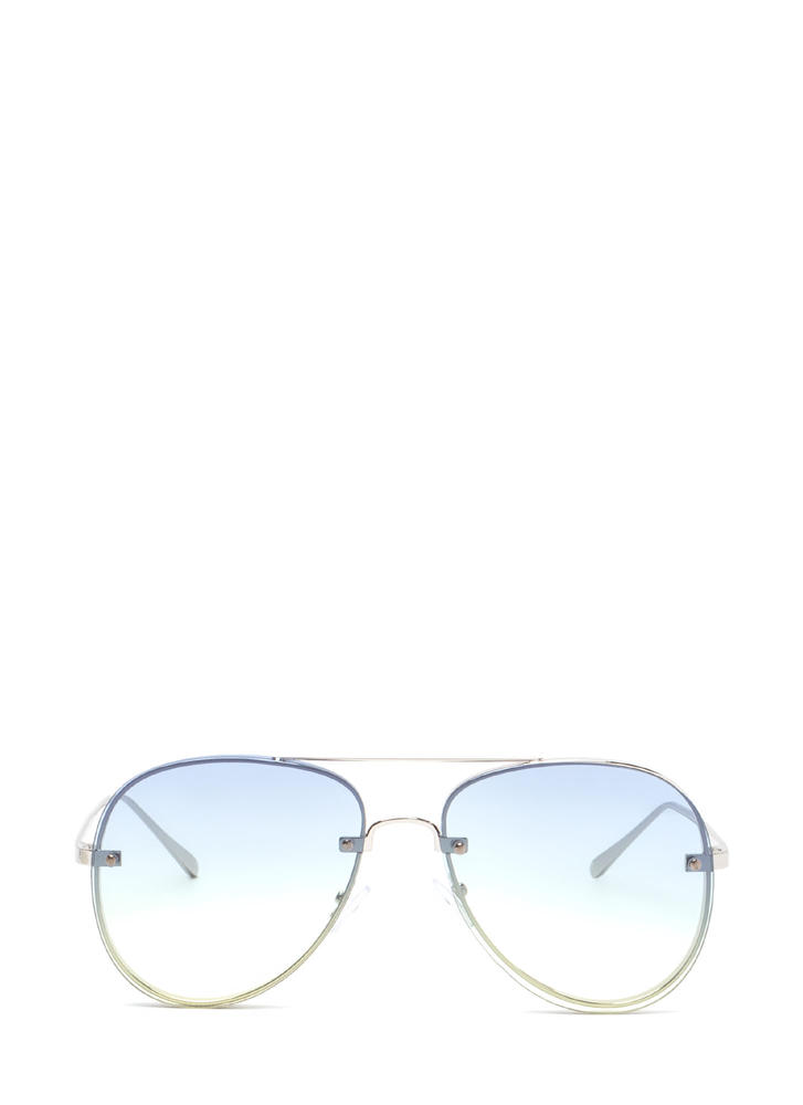 Vacay Vibes Gradient Aviator Sunglasses