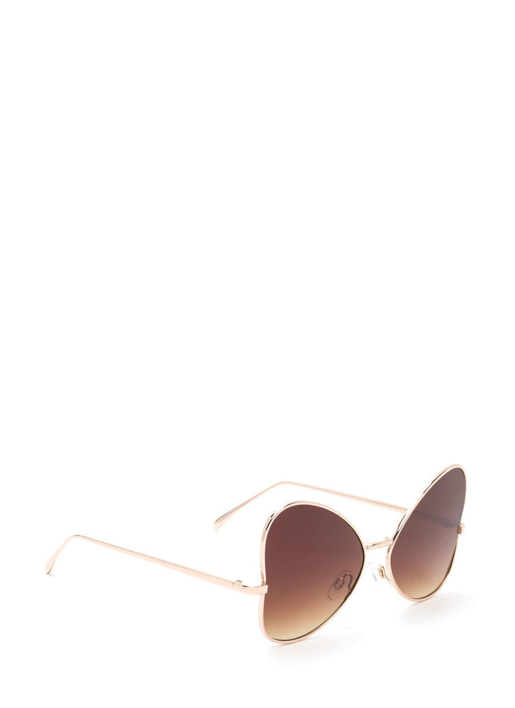 Sunny Climate Oversized Sunglasses BROWNGOLD