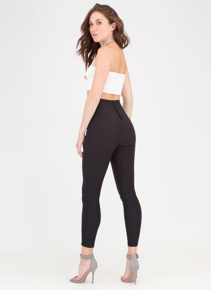 Join The Panel High-Waisted Skinny Pants BLACK