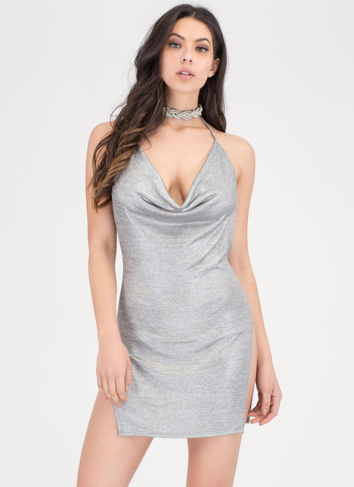 Draped To Meet You Plunging Minidress