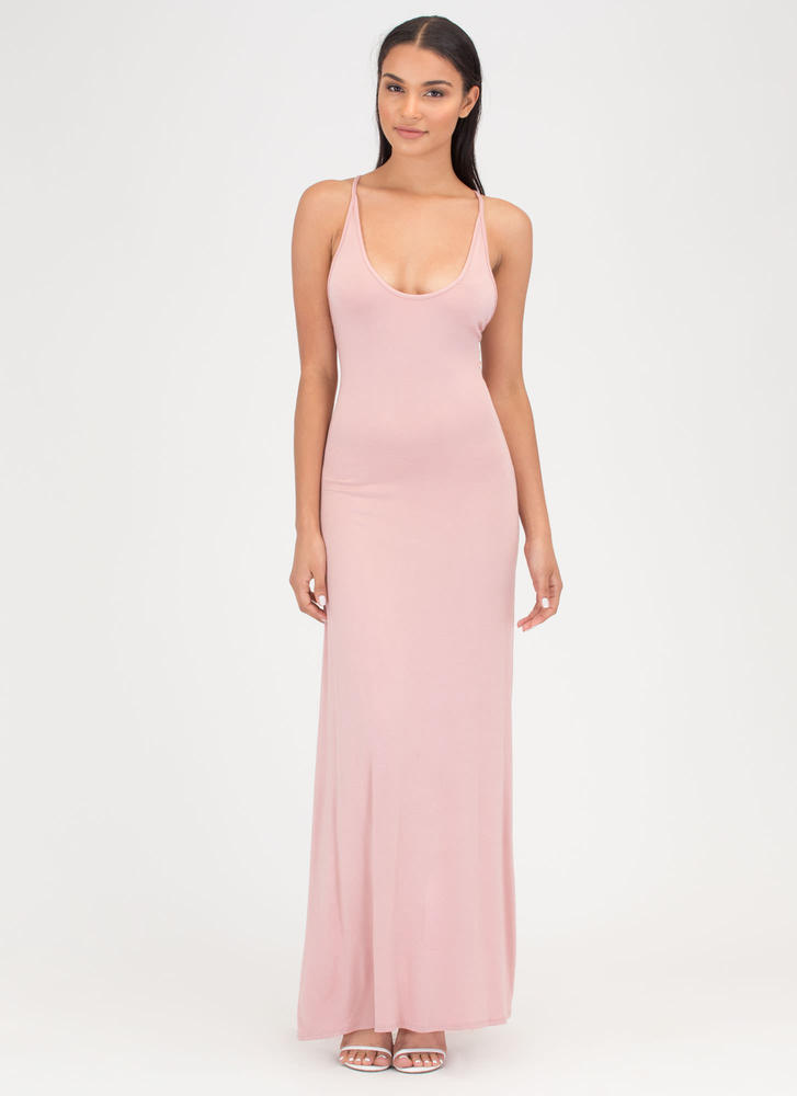 At A Crossroad Tied Maxi Dress