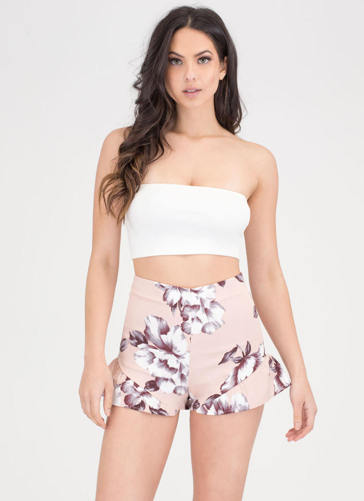 Bloom Service Ruffled Shorts PINK