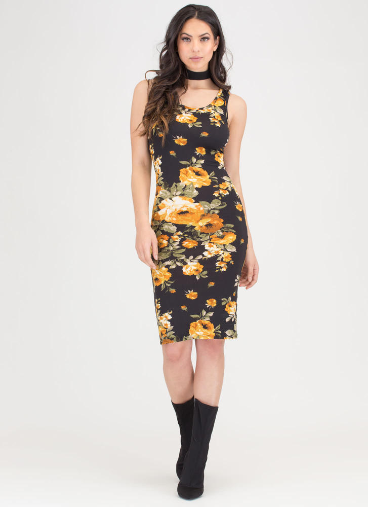 Flower Up Floral Tank Midi Dress