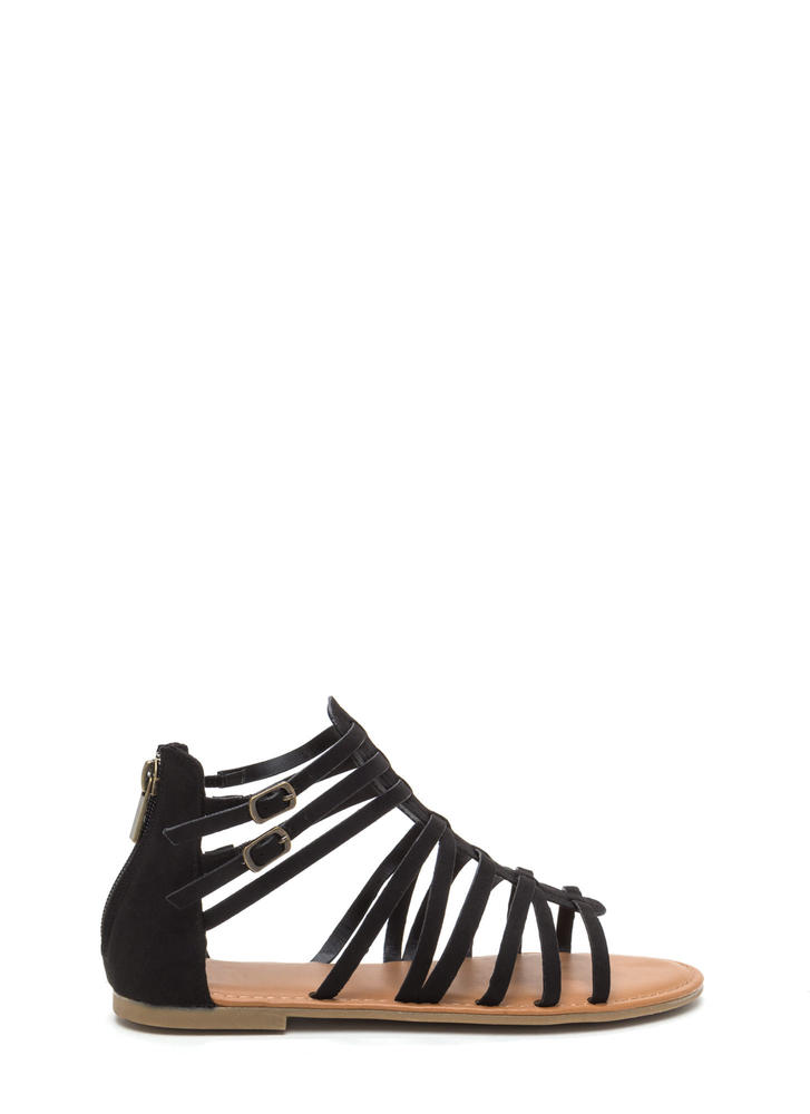 Short Story Strappy Gladiator Sandals