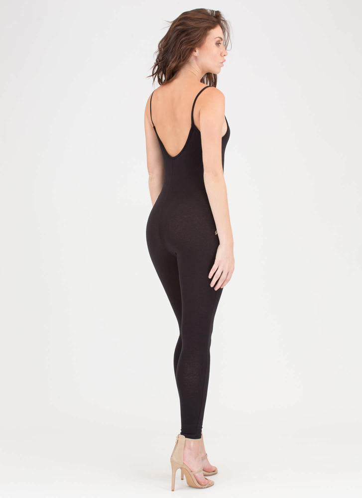 Flowers Of The Hour Strappy Jumpsuit BLACK