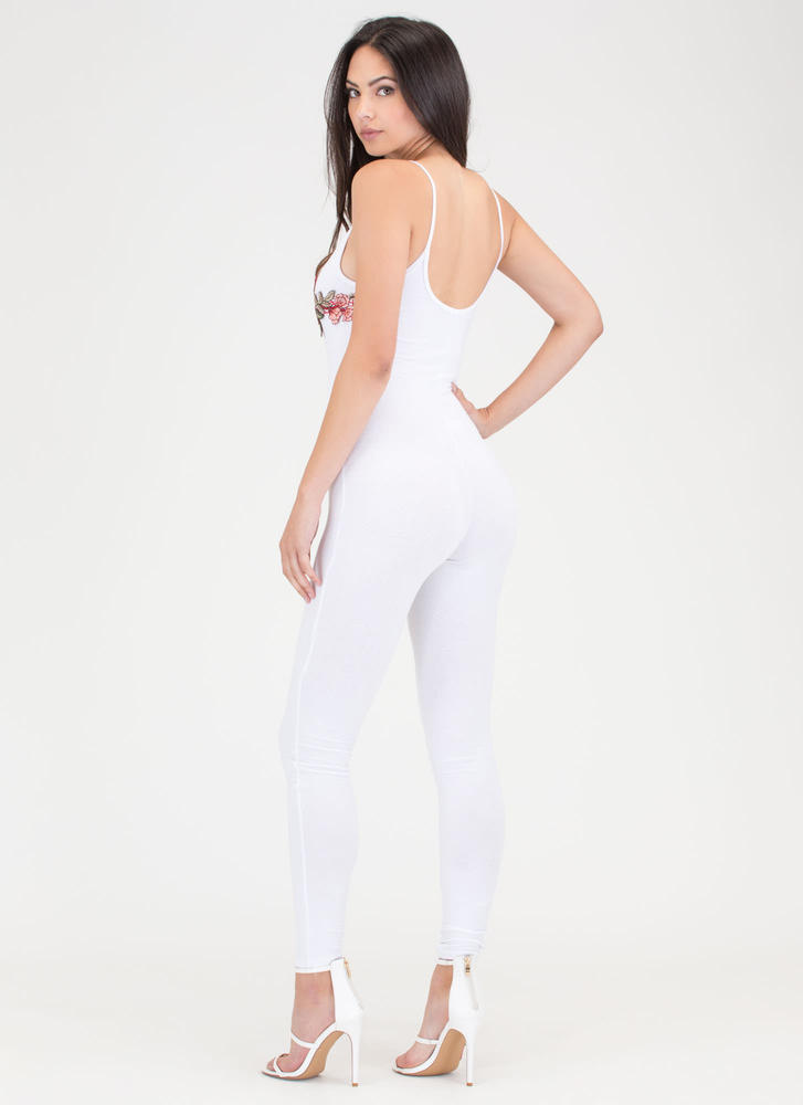 Flowers Of The Hour Strappy Jumpsuit WHITE
