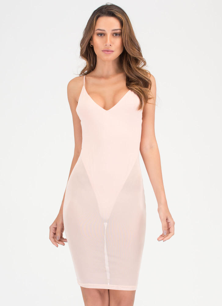Sheer Courage Thong Bodysuit Dress