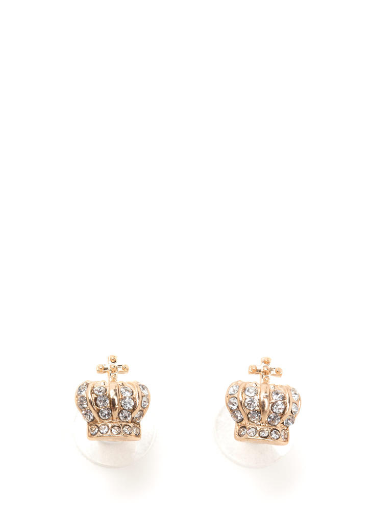 Crowning Achievement Jeweled Earrings
