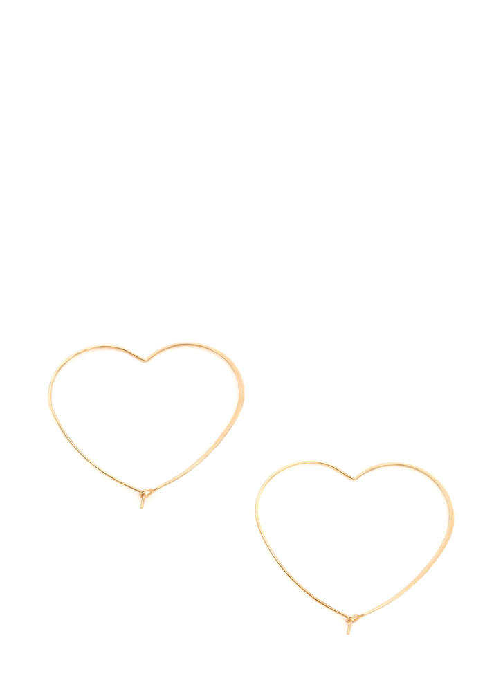 Heart Act To Follow Hoop Earrings