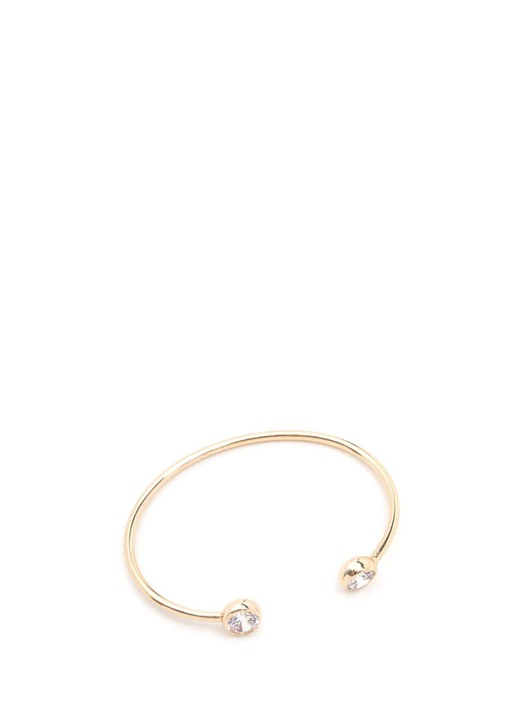 Eye To Eye Faux Diamond Bracelet