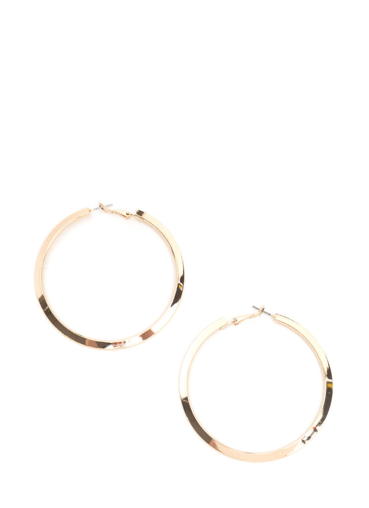 In Nothing Flat Hoop Earrings