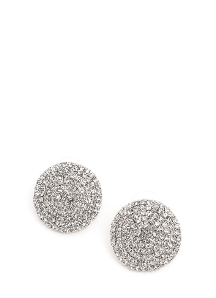 Disc Jockey Rhinestone Earrings