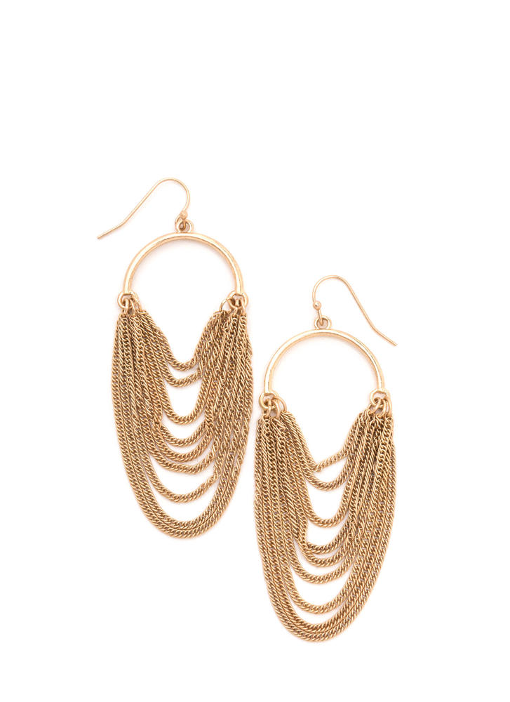 Either Way Draped Chain Earrings