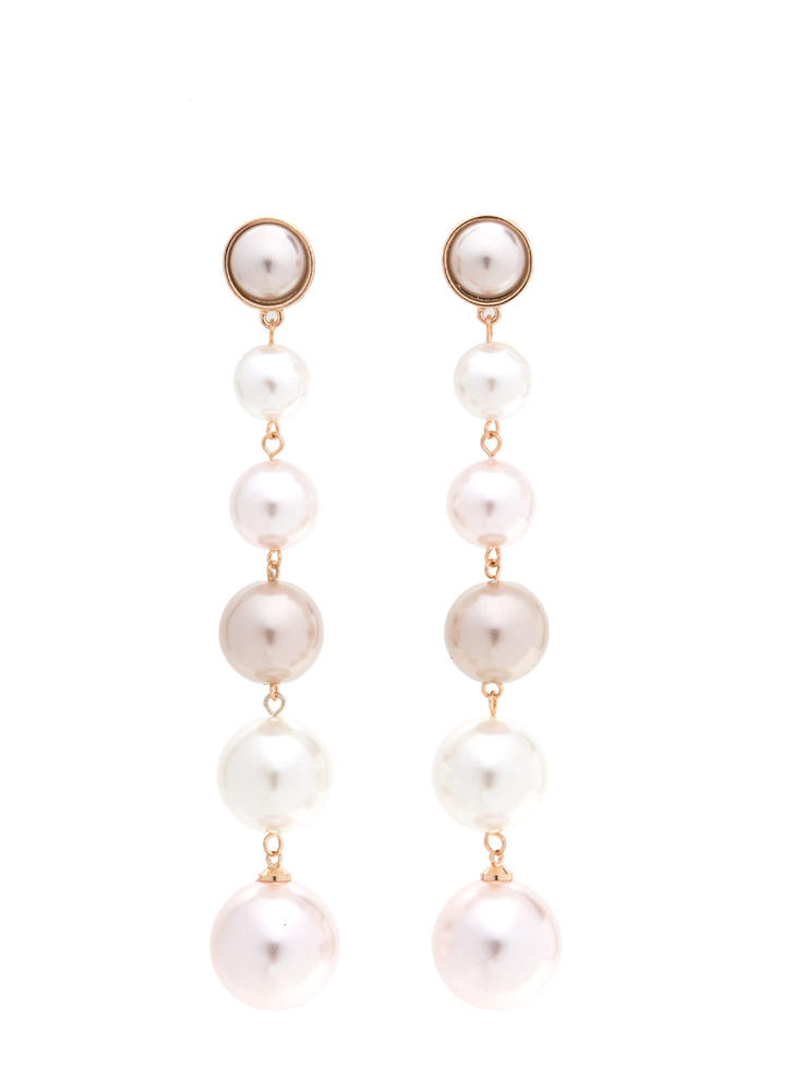 Having A Ball Faux Pearl Earrings