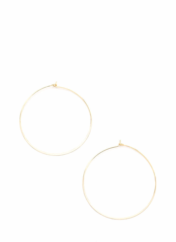Minimal Statement Hoop Earrings