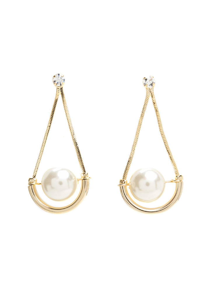 Drip Droplets Faux Pearl Earrings