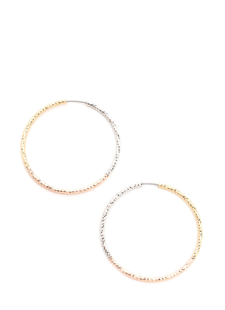 All Good Mixed Metal Hoop Earrings