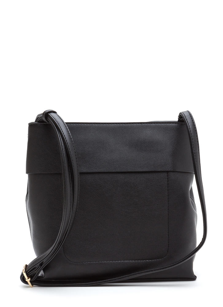 Tranquil Trip Faux Leather Bag BLACK