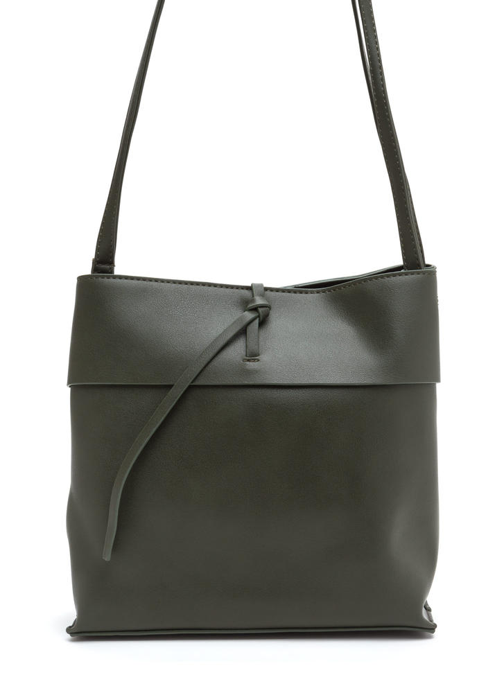 Tranquil Trip Faux Leather Bag OLIVE