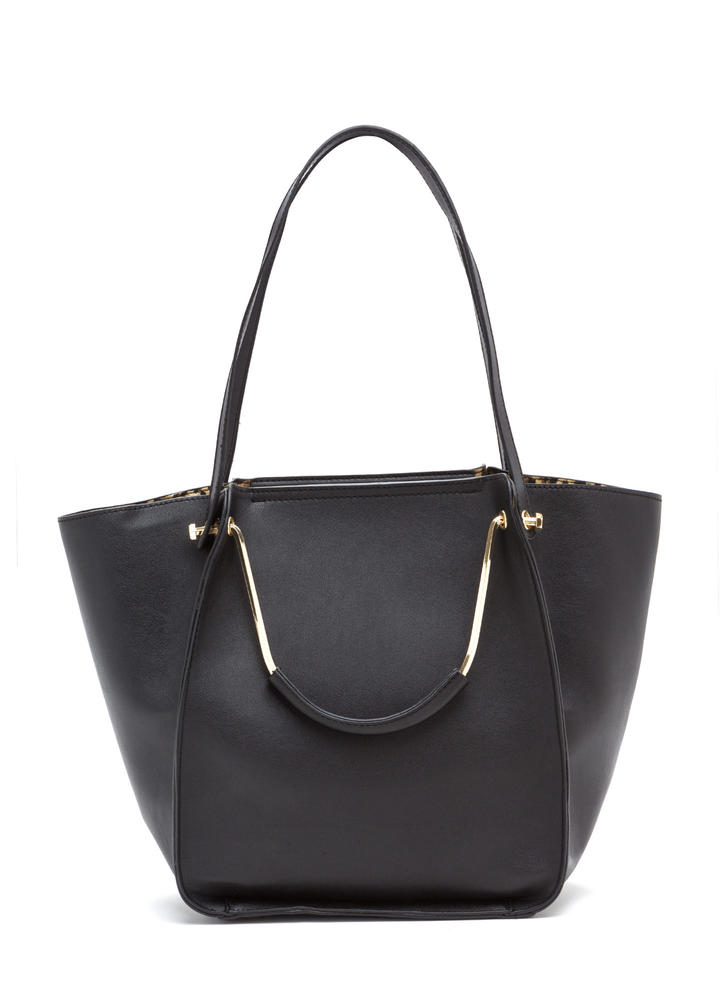 Do It All Oversized Faux Leather Tote