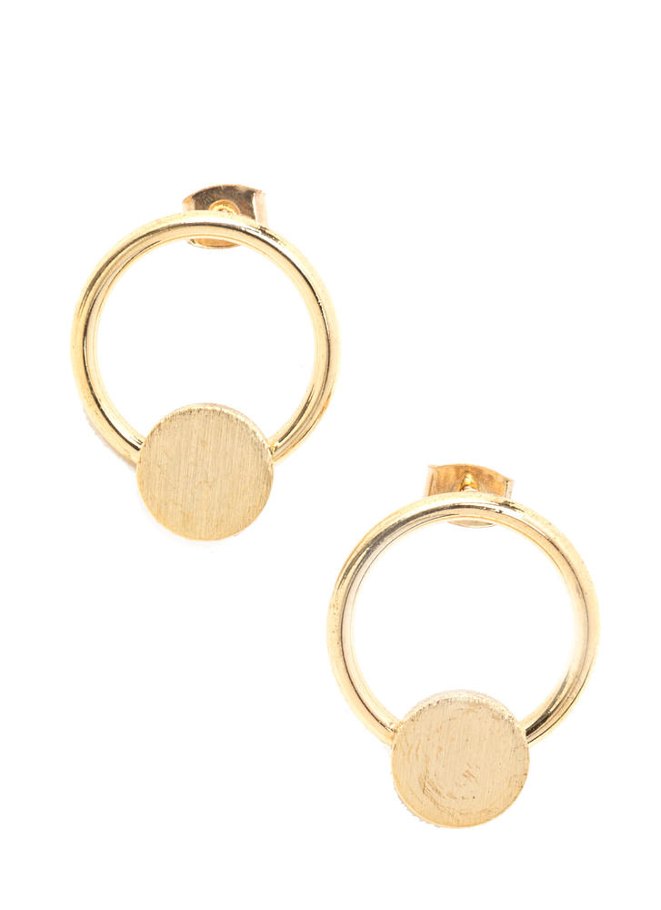 Minimal Vibe Door Knocker Earrings