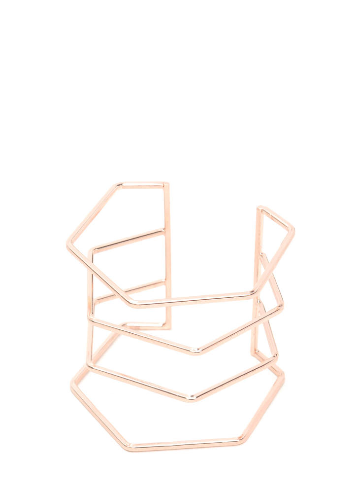 Six Appeal Hexagonal Wire Cuff