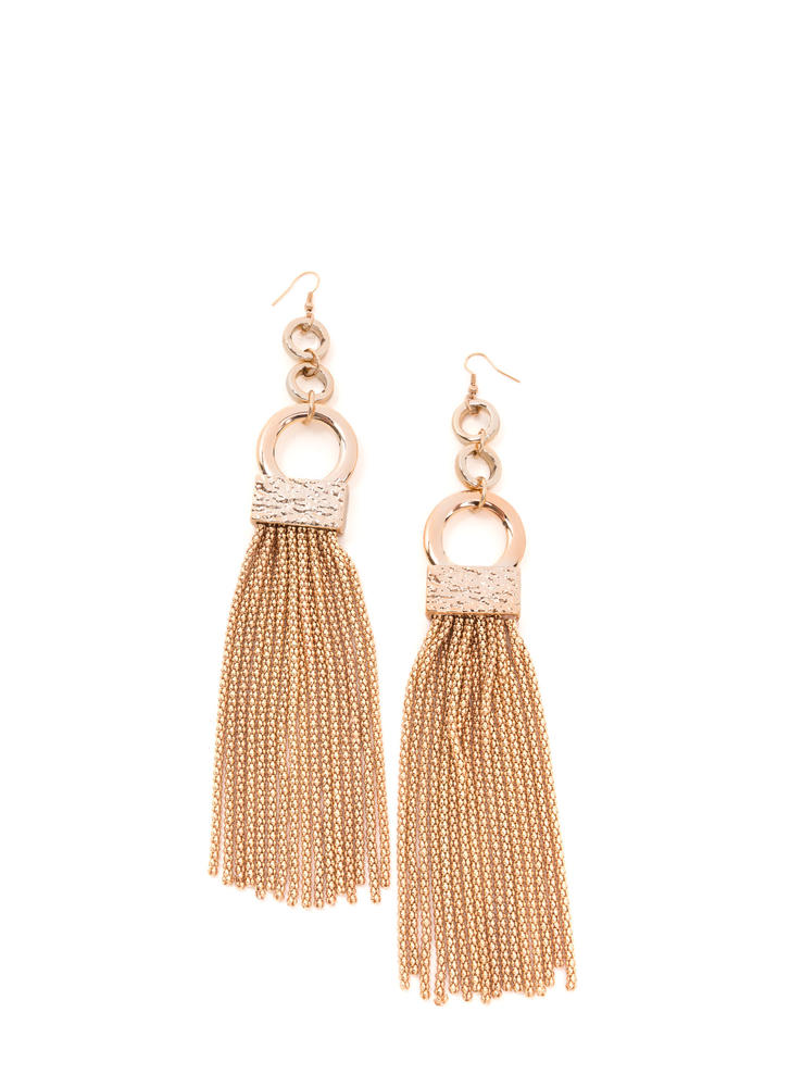Huge Deal Chain Tassel Earrings
