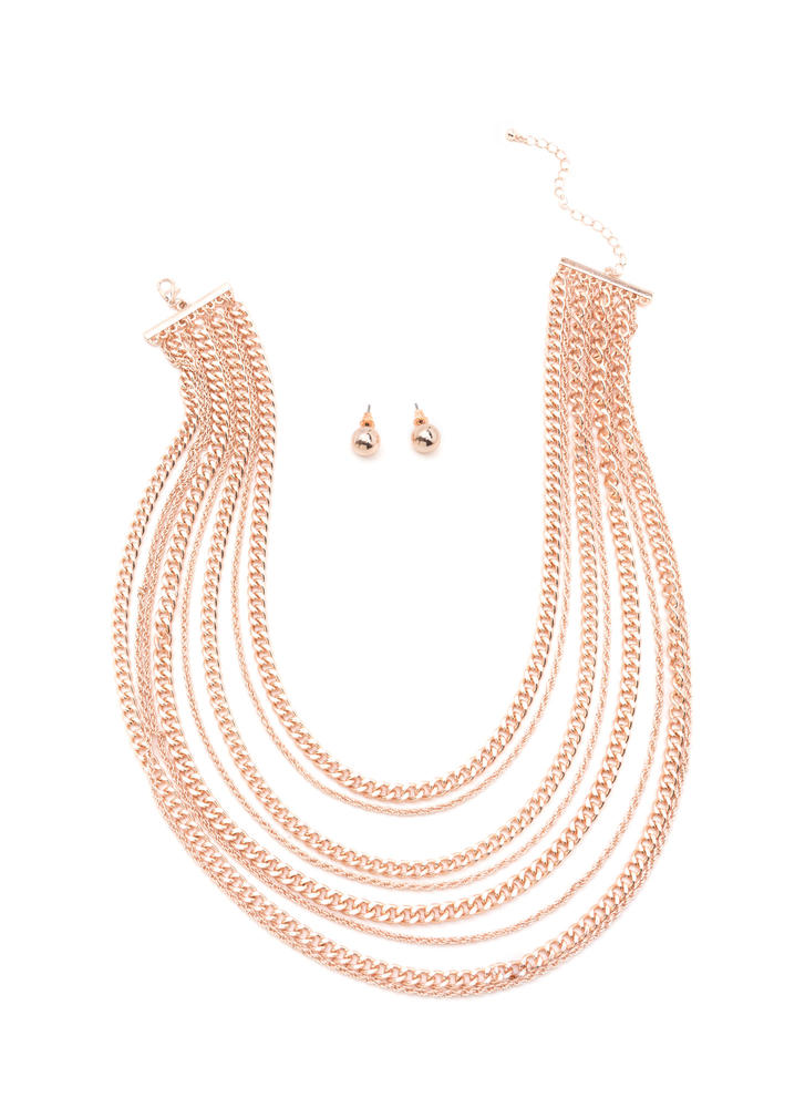 Decadent Look Layered Chain Necklace Set