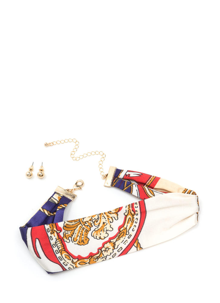 Set Sail Nautical Scarf Choker
