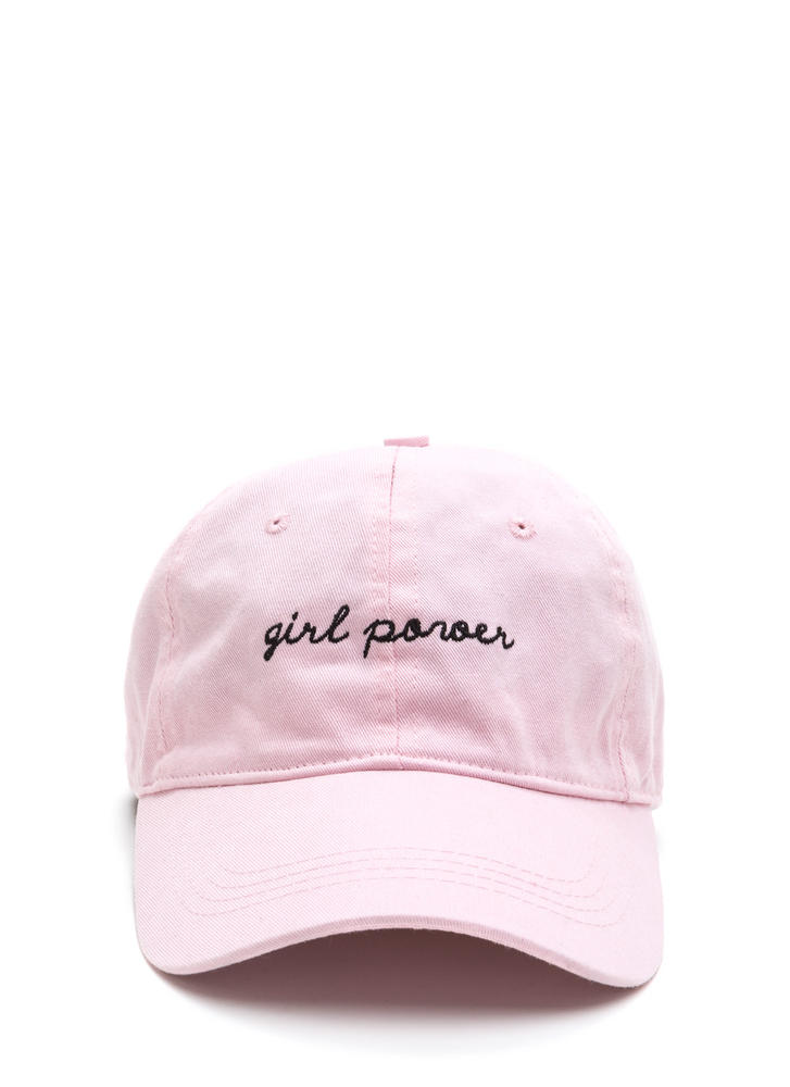 Girl Power Embroidered Baseball Cap