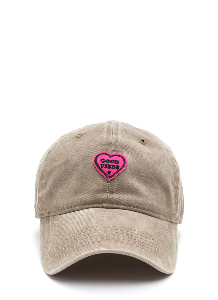 Only Good Vibes Patch Baseball Cap