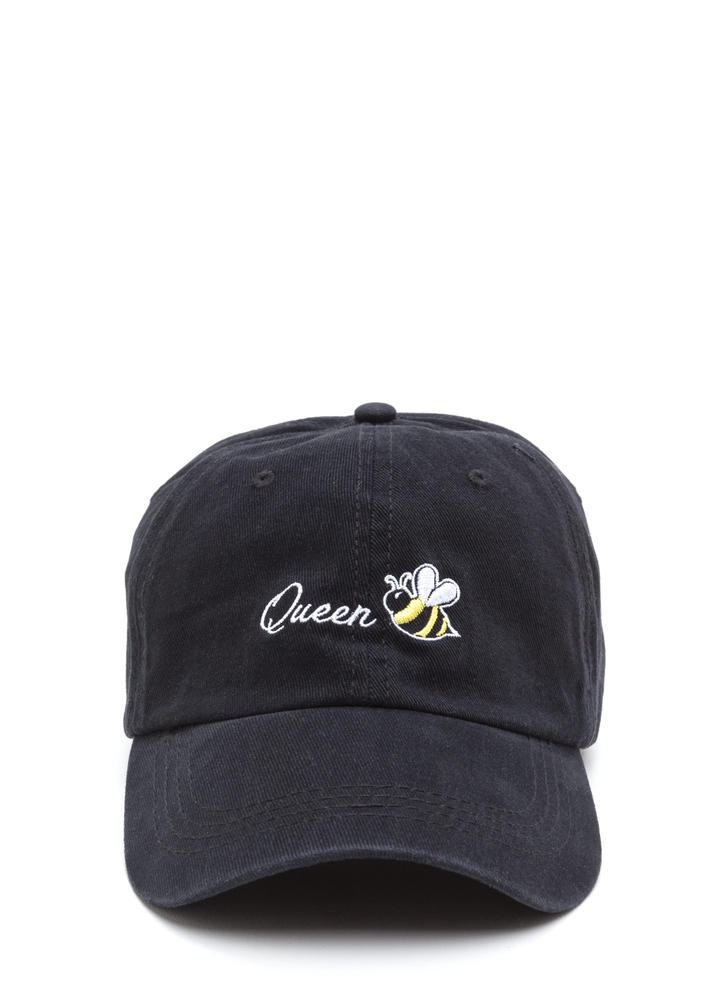 Queen Bee Embroidered Baseball Cap