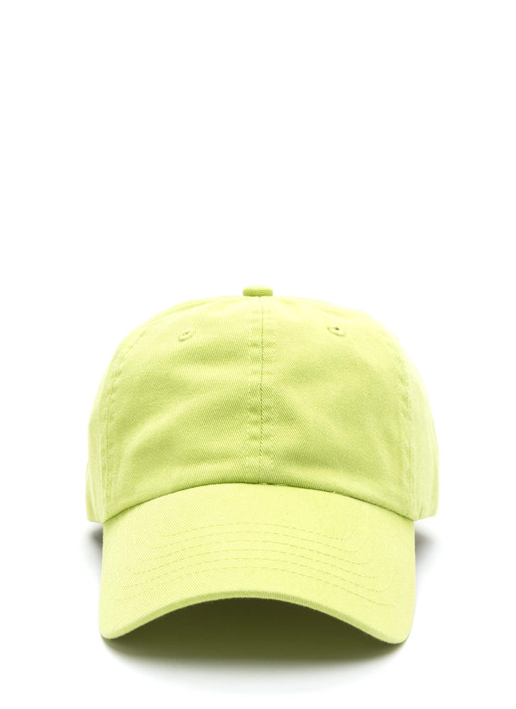 Sun Worshipper Solid Baseball Cap LIME